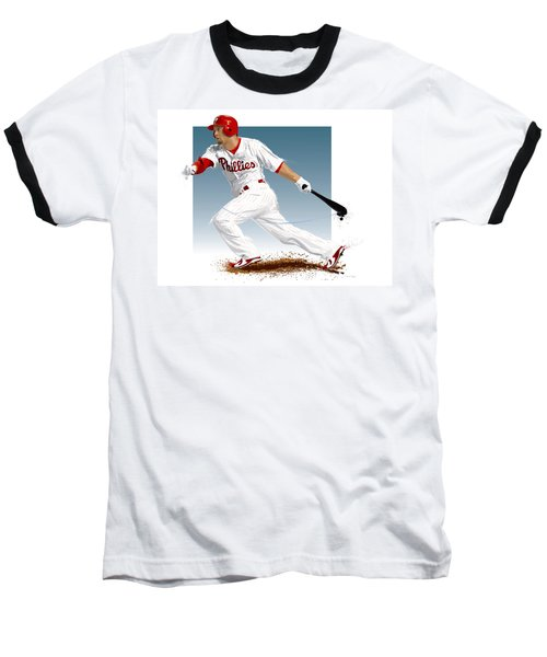 Shane Victorino Baseball T-Shirt by Scott Weigner