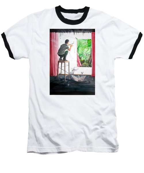 Shaping The Peace Listen With Music Of The Description Box Baseball T-Shirt by Lazaro Hurtado