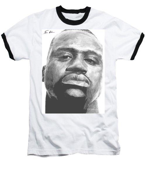 Baseball T-Shirt featuring the drawing Shaq by Tamir Barkan