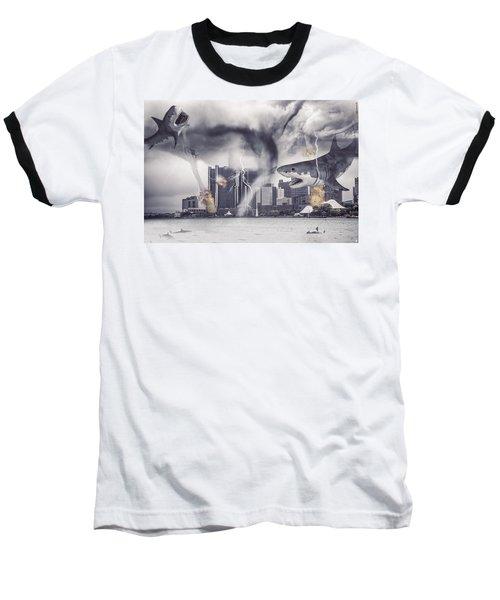Baseball T-Shirt featuring the photograph Sharknado Detroit by Nicholas  Grunas