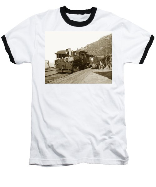 Baseball T-Shirt featuring the photograph Shay No. 498 At The Summit Of Mt. Tamalpais Marin Co California Circa 1902 by California Views Mr Pat Hathaway Archives
