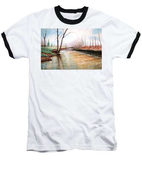 Baseball T-Shirt featuring the pastel Shelby Stream by Stacy C Bottoms