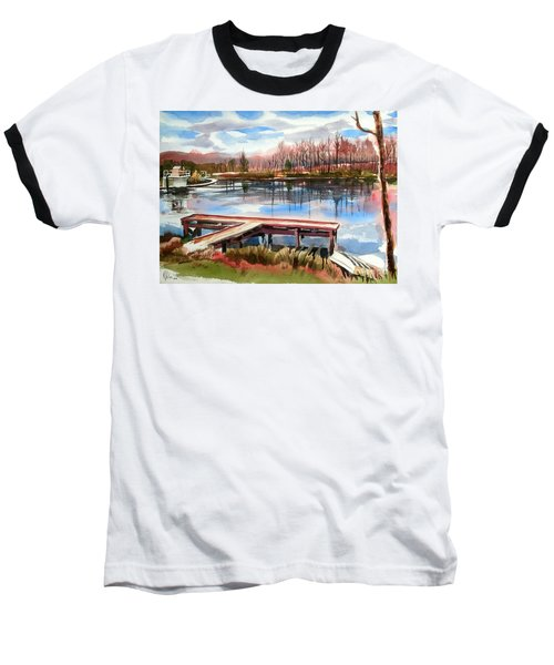 Shepherd Mountain Lake In Winter Baseball T-Shirt