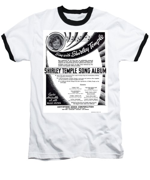 Shirley Temple Song Album Baseball T-Shirt
