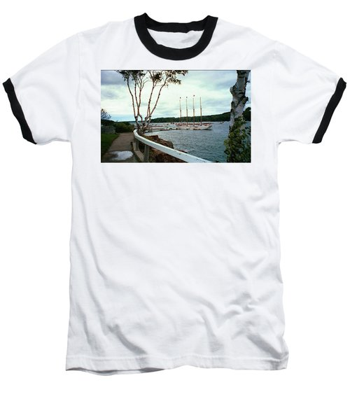 Shore Path In Bar Harbor Maine Baseball T-Shirt