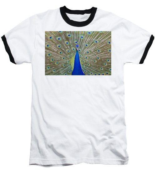 Baseball T-Shirt featuring the pyrography Showing Off by Shoal Hollingsworth
