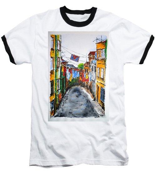 Side Street Baseball T-Shirt by Zaira Dzhaubaeva