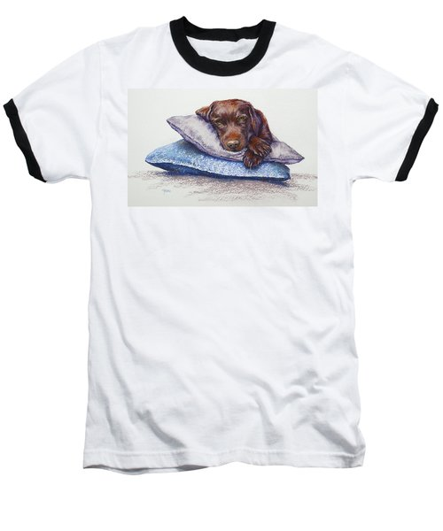 Baseball T-Shirt featuring the painting Siesta by Cynthia House