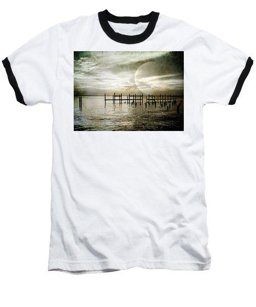Silhouettes  Baseball T-Shirt by Kathy Bassett