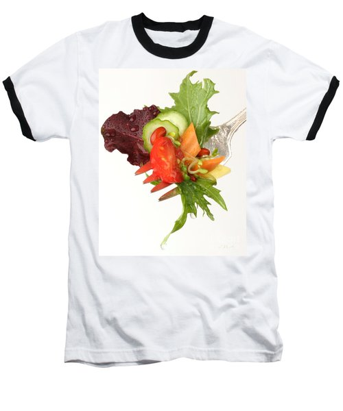 Silver Salad Fork Baseball T-Shirt