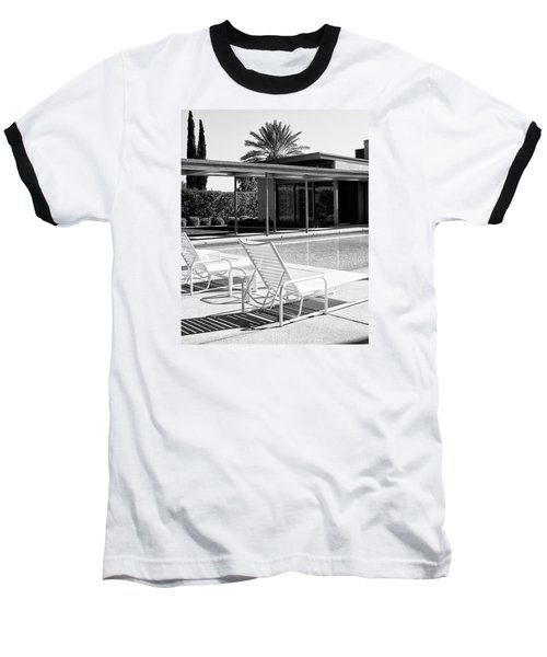 Sinatra Pool Bw Palm Springs Baseball T-Shirt