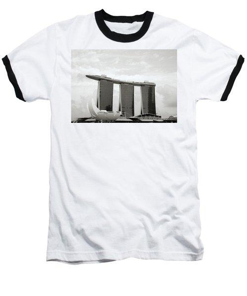 Singapore Skyline Baseball T-Shirt