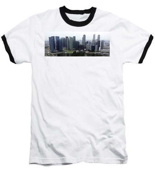 Baseball T-Shirt featuring the photograph Singapore Skyline by Shoal Hollingsworth