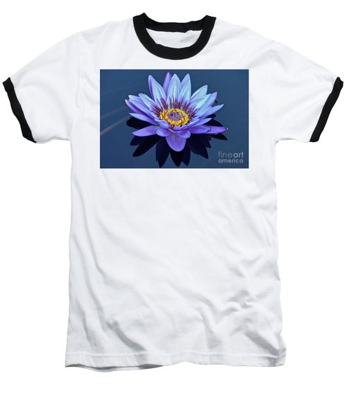 Single Lavender Water Lily Baseball T-Shirt