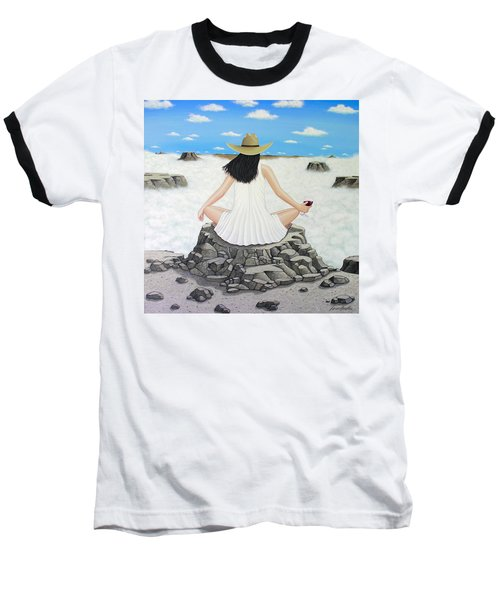 Sippin' On Top Of The World Baseball T-Shirt by Lance Headlee