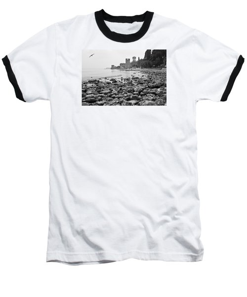 Baseball T-Shirt featuring the photograph Sirmione Castle by Simona Ghidini