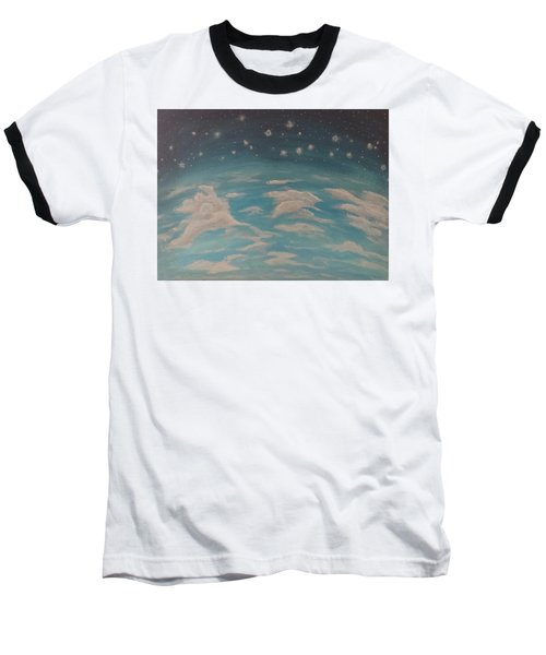 Sitting On Top Of The World Baseball T-Shirt by Thomasina Durkay