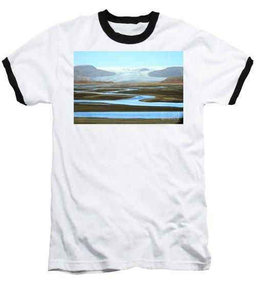 Baseball T-Shirt featuring the photograph Skaftafell Glacier by Paula Guttilla