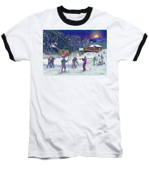 Ski Area Campton Mountain Baseball T-Shirt