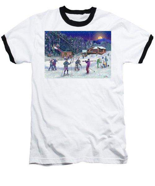 Ski Area Campton Mountain Baseball T-Shirt
