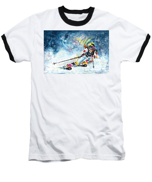 Skiing 03 Baseball T-Shirt
