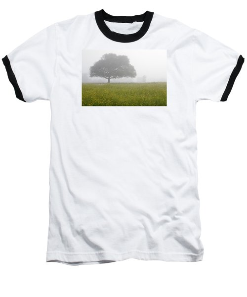 Baseball T-Shirt featuring the photograph Skc 0056 Tree In Fog by Sunil Kapadia