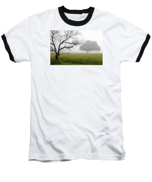Skc 0058 Contrasty Trees Baseball T-Shirt