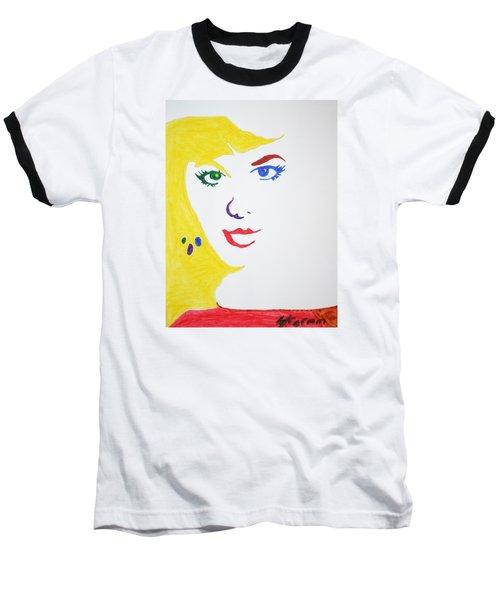 Blonde Mother Nature Baseball T-Shirt