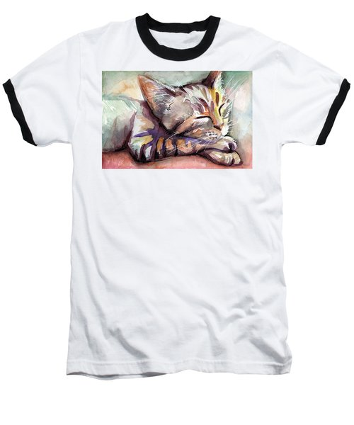Sleeping Kitten Baseball T-Shirt