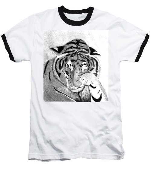 Sleepy Tiger Baseball T-Shirt