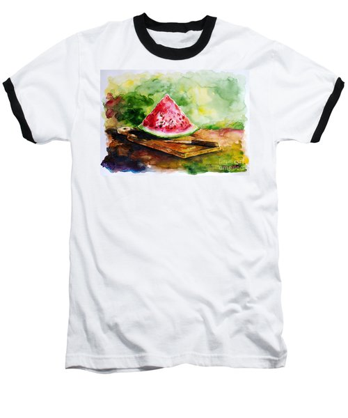 Sliced Watermelon Baseball T-Shirt