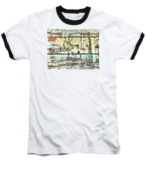 Baseball T-Shirt featuring the drawing His First Horse  by Larry Campbell