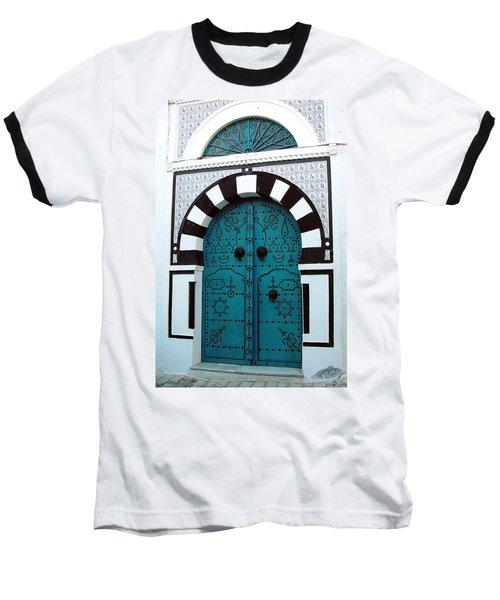 Smiling Moon Door Baseball T-Shirt