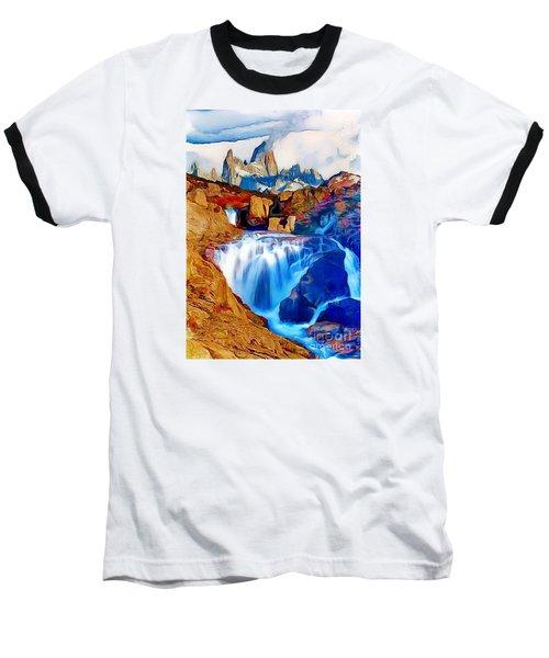 Smokey Mountain View Baseball T-Shirt