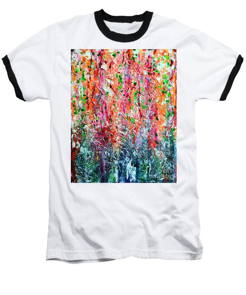 Snapdragons II Baseball T-Shirt by Alys Caviness-Gober