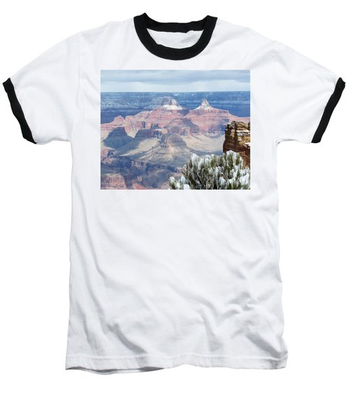 Snow At The Grand Canyon Baseball T-Shirt