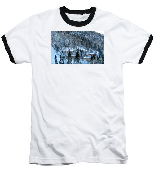 Snow Cabins Baseball T-Shirt