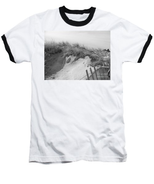 Snow Covered Sand Dunes Baseball T-Shirt