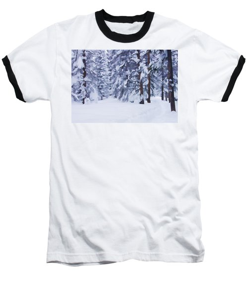 Snow-dappled Woods Baseball T-Shirt