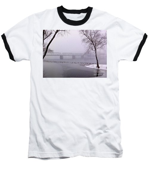 Snow From Lewis Island Bridge Baseball T-Shirt