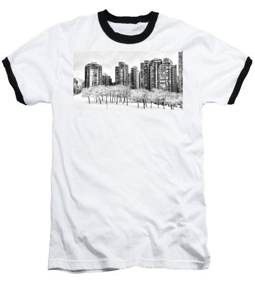 Snow In The City Baseball T-Shirt