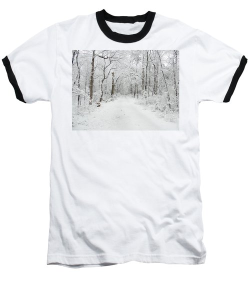 Snow In The Park Baseball T-Shirt