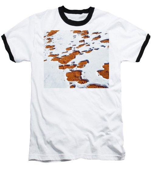 Snow On Dunes Baseball T-Shirt