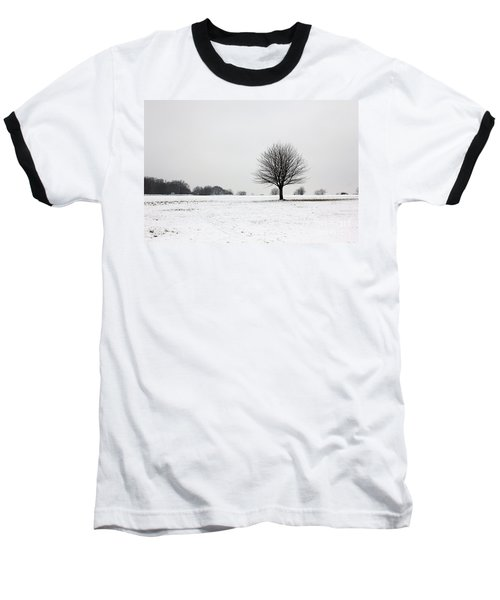 Snow On Epsom Downs Surrey England Uk Baseball T-Shirt