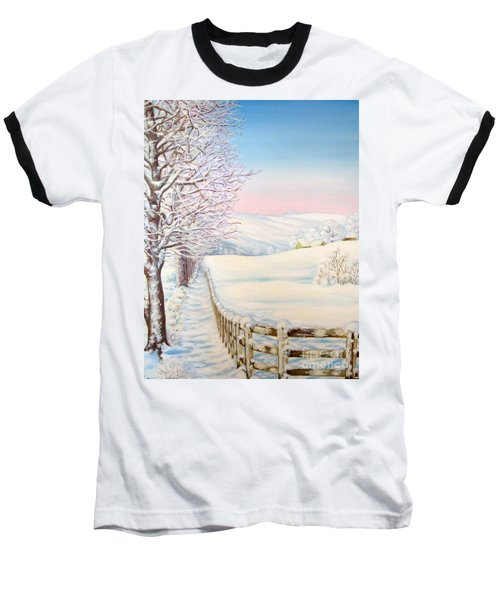 Snow Path Baseball T-Shirt