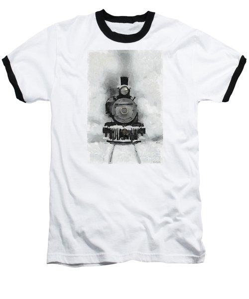 Snow Train Baseball T-Shirt by Dragica  Micki Fortuna