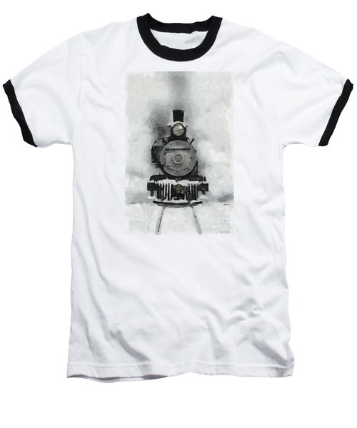 Snow Train Baseball T-Shirt
