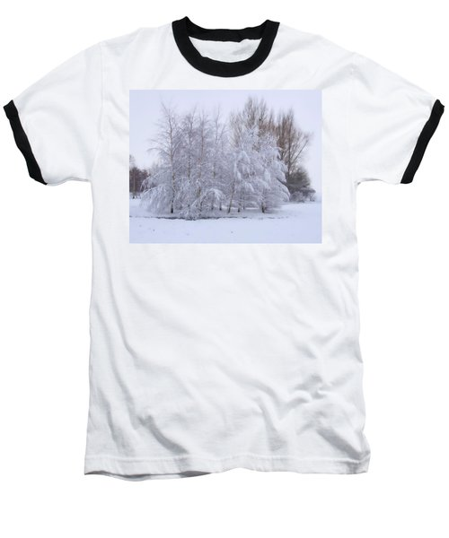 Snow Trees Baseball T-Shirt