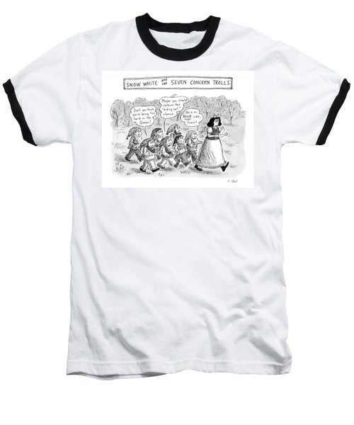 Snow White Is Storming Away From A Group Of Seven Baseball T-Shirt