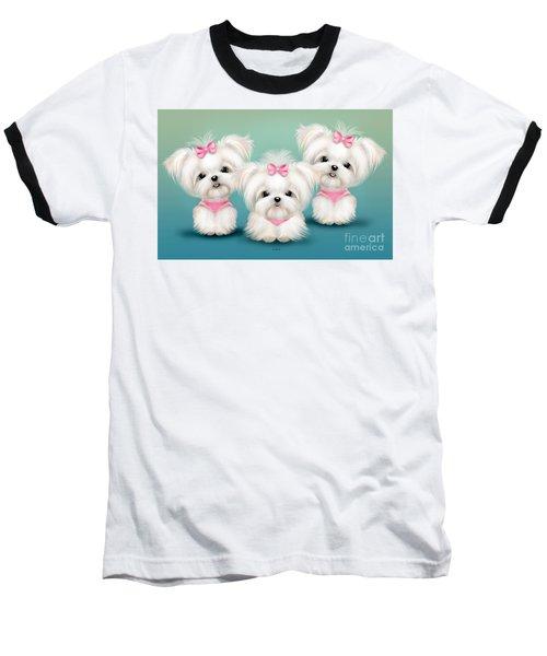 Snowflakes  Baseball T-Shirt by Catia Cho